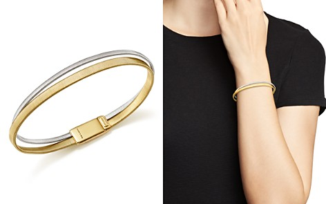 Marco Bicego 18K White and Yellow Gold Masai Two Row Bracelet - Bloomingdale's_2