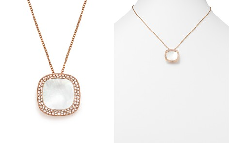 "Roberto Coin 18K Rose Gold Carnaby Street Diamond and Mother-Of-Pearl Necklace, 16"" - Bloomingdale's_2"