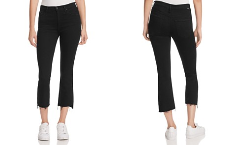 MOTHER Insider Crop Step Fray Jeans in Not Guilty - Bloomingdale's_2
