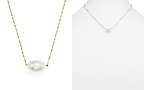 """Cultured Freshwater Pearl Pendant Necklace in 14K Yellow Gold, 17"""" - Bloomingdale's_2"""