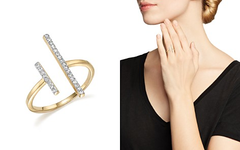 MATEO 14K Yellow Gold Double Bar Ring with Diamonds - Bloomingdale's_2