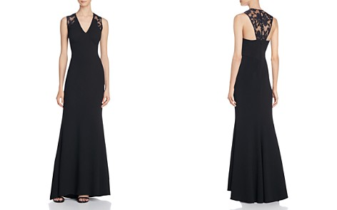 JS Collections Illusion Lace Detail Gown - Bloomingdale's_2
