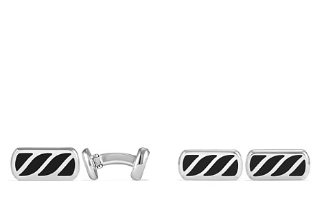 David Yurman Graphic Cable Cufflinks with Black Onyx - Bloomingdale's_2
