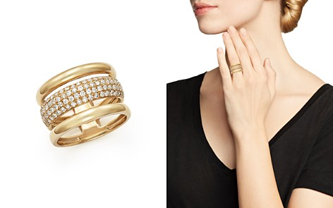 Diamond Three Row Band in 14K Yellow Gold, .75 ct. t.w. - Bloomingdale's_2