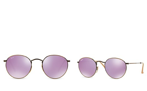 Ray-Ban Women's Icons Mirrored Round Sunglasses, 50mm - Bloomingdale's_2