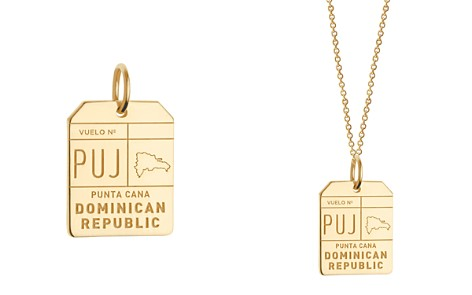 Jet Set Candy PUJ Punta Cana DR Luggage Tag Charm - Bloomingdale's_2