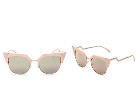 Fendi Women's Iridia Mirrored Cat Eye Sunglasses, 54mm - Bloomingdale's_2