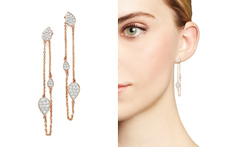 Diamond Front-Back Chain Drop Earrings in 14K Rose Gold, .60 ct. t.w. - 100% Exclusive - Bloomingdale's_2