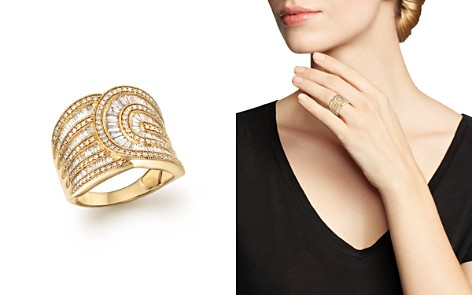 Diamond Round and Baguette Band in 14K Yellow Gold, 1.30 ct. t.w. - Bloomingdale's_2