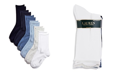 Ralph Lauren Roll Top Trouser Socks, Set of 6 - Bloomingdale's_2