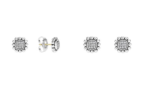 LAGOS Sterling Silver Caviar Spark Diamond Square Stud Earrings - Bloomingdale's_2