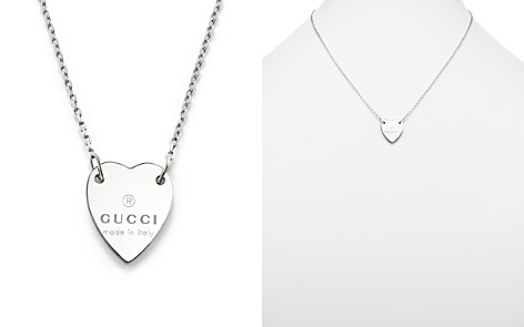 Gucci necklace bloomingdales gucci sterling silver engraved trademark heart necklace 18 bloomingdales2 aloadofball Choice Image