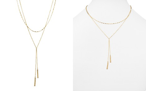 """14K Yellow Gold Double Chain Tassel Lariat Necklace, 17"""" - 100% Exclusive - Bloomingdale's_2"""