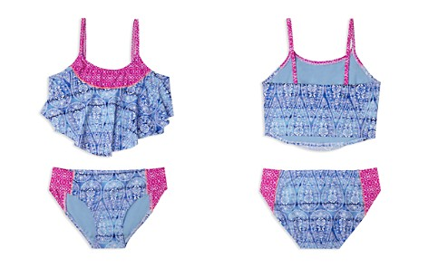 Gossip Girl Girls' Printed Flounce 2-Piece Swimsuit - Big Kid - Bloomingdale's_2
