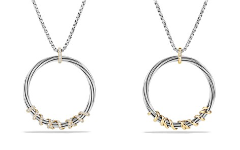 David Yurman Helena Large Pendant Necklace with Diamonds and 18K Gold - Bloomingdale's_2