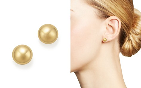 Bloomingdale's 14K Yellow Gold Flat Ball Stud Earrings - 100% Exclusive_2