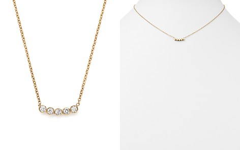 """Zoë Chicco 14K Yellow Gold Delicate Five Diamond Necklace, 16"""" - Bloomingdale's_2"""