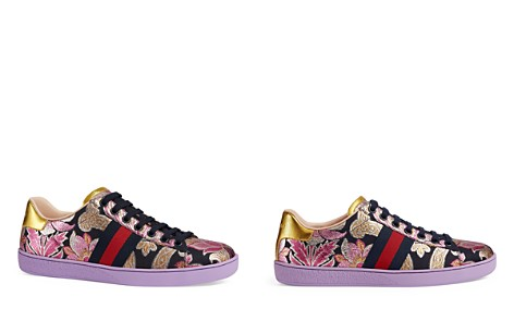 Gucci New Ace Brocade Lace Up Sneakers - Bloomingdale's_2