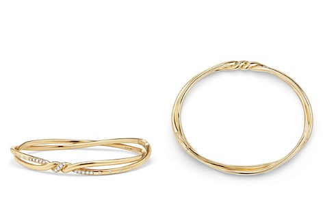David Yurman Continuance Center Twist Bracelet with Diamonds in 18K Gold - Bloomingdale's_2