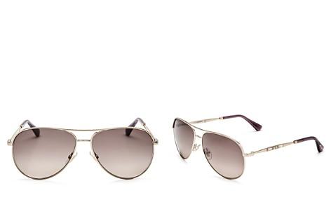Jimmy Choo Jewly Aviator Sunglasses, 57mm - Bloomingdale's_2