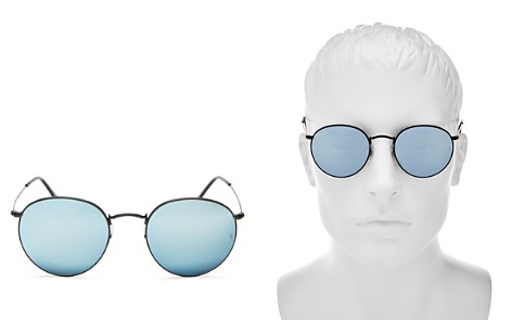 Ray-Ban Unisex Mirrored Round Sunglasses, 53mm - 100% Exclusive - Bloomingdale's_2