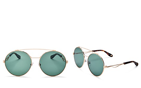 Givenchy Double Brow Bar Oversized Round Polarized Sunglasses, 60mm - Bloomingdale's_2