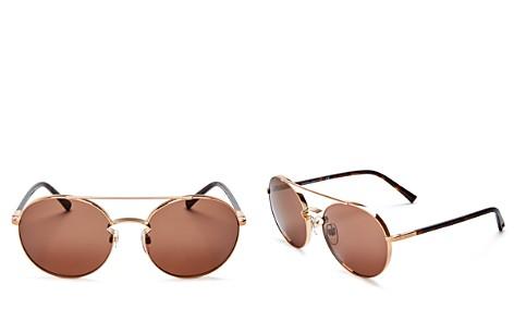 Valentino Women's Round Sunglasses, 55mm - Bloomingdale's_2