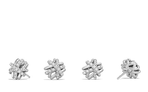 David Yurman Crossover Earrings with Diamonds - Bloomingdale's_2