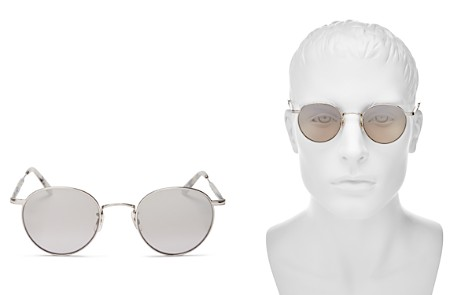 GARRETT LEIGHT Men's Wilson Mirrored Round Sunglasses, 49mm - Bloomingdale's_2