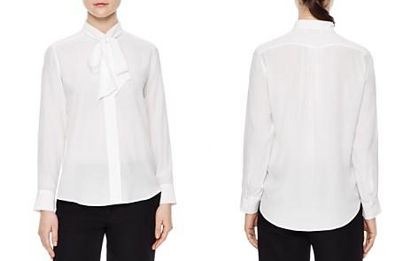 Sandro Caline Tie-Neck Silk Shirt - Bloomingdale's_2
