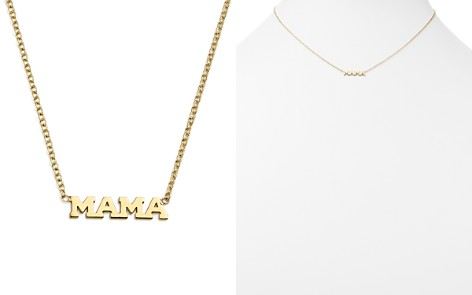 """Zoë Chicco 14K Yellow Gold Itty Bitty Mama Necklace, 16"""" - Bloomingdale's_2"""