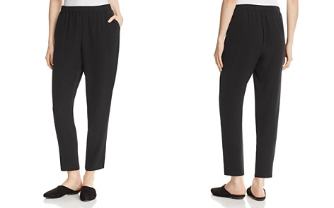 Eileen Fisher Petites System Slouchy Silk Ankle Pants - Bloomingdale's_2