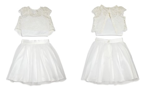 US Angels Girls' Lace Top & Skirt Set - Little Kid - Bloomingdale's_2