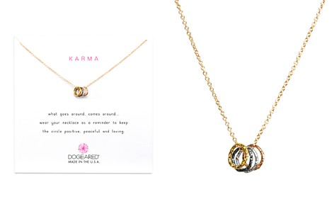 "Dogeared Tiny Sparkle Karma Necklace, 16"" - Bloomingdale's_2"