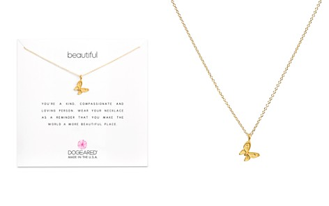 "Dogeared 14K Gold-Dipped Butterfly Necklace, 16"" - Bloomingdale's_2"