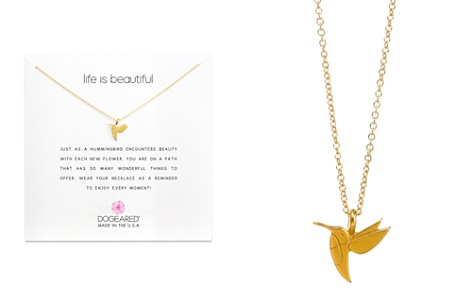 "Dogeared Life is Beautiful Necklace, 16"" - Bloomingdale's_2"