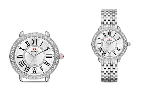 MICHELE Serein 16 Diamond Dial Watch Head, 36 x 34mm - Bloomingdale's_2