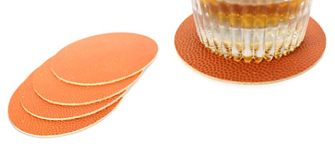 Owen & Fred Basketball Leather Coasters, Set of 4 - Bloomingdale's_2