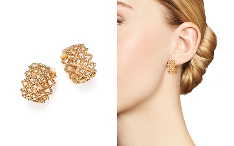 Roberto Coin 18K Yellow Gold New Barocco Diamond Earrings - Bloomingdale's_2