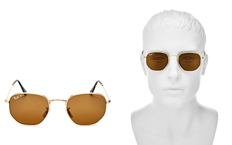 Ray-Ban Icons Polarized Hexagonal Sunglasses, 50mm - Bloomingdale's_2