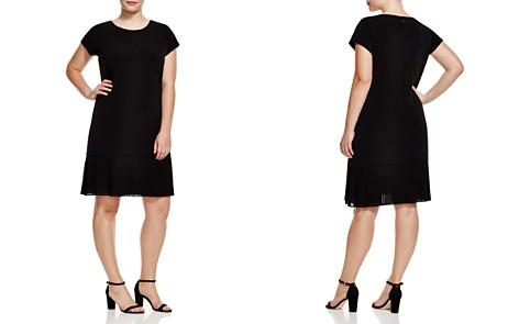 MICHAEL Michael Kors Plus Short Sleeve Pleat Hem Dress - Bloomingdale's_2