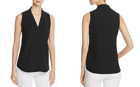 Calvin Klein V-Neck Sleeveless Blouse - Bloomingdale's_2
