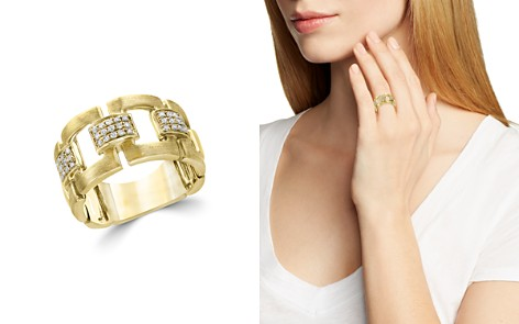 Diamond Link Band in Brushed 14K Yellow Gold, .20 ct. t.w. - 100% Exclusive - Bloomingdale's_2