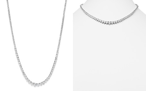 Graduated Tennis Necklace in 14K White Gold, 5.0 ct. t.w. - Bloomingdale's_2