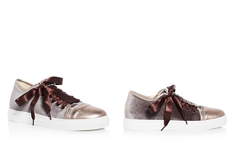 Aska Nell Velvet Cap Toe Lace Up Sneakers - Bloomingdale's_2
