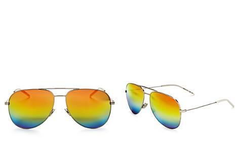 Saint Laurent Women's Classic Brow Bar Mirrored Aviator Sunglasses, 59mm - Bloomingdale's_2