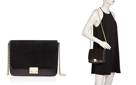 Loeffler Randall Lock Nubuck and Leather Shoulder Bag - Bloomingdale's_2