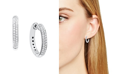 Diamond Double Row Hoop Earrings in 14K White Gold, .50 ct. t.w. - Bloomingdale's_2