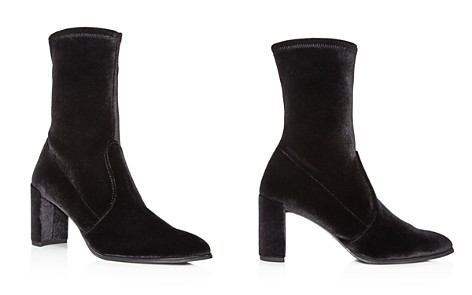 Stuart Weitzman Prancer Stretch Velvet Booties - Bloomingdale's_2