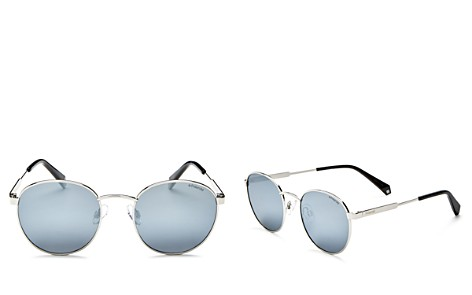 Polaroid Mirrored Polarized Round Sunglasses, 50mm - Bloomingdale's_2